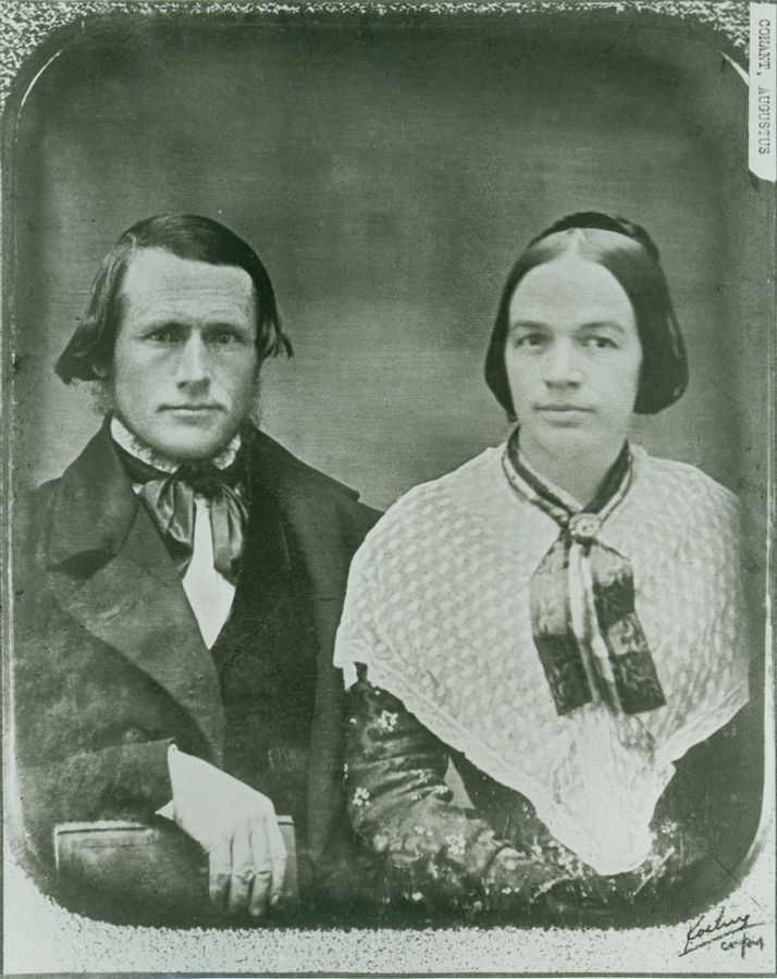 Augustus Conant, shown with his wife, Betsey, circa 1850, was the first minister in Geneva and helped organize the First Christian Society of Geneva.