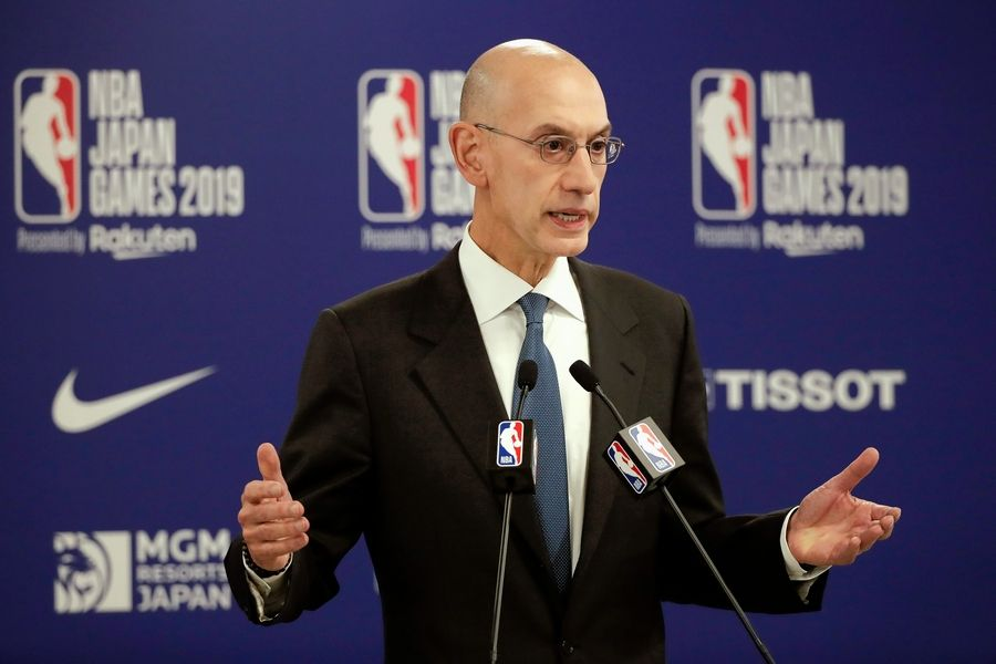 Associated PressNBA Commissioner Adam Silver.