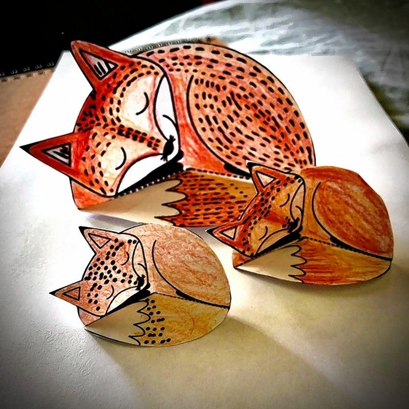 Create 3-D projects, like a family of foxes, during the online 3-D Art Camp July 13-17 at Water Street Studios in Batavia.