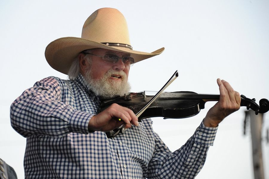 Despite the heat a large crowd turned out to hear the legendary Charlie Daniels and his famous fiddle entertain at Frontier Days in Arlington Heights on July 7, 2012.