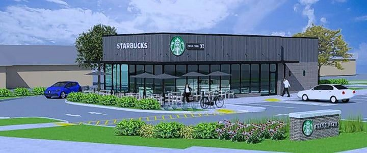 A new Starbucks will be built at 310 S. McLean Blvd. in Elgin. The one-story, 2,200-square-foot building will have a drive-through window, an outdoor seating patio and a parking lot with 27 spaces.