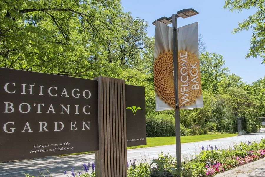 The Chicago Botanic Garden in Glencoe has reopened its perimeter walk on a limited basis with advance reservations required.
