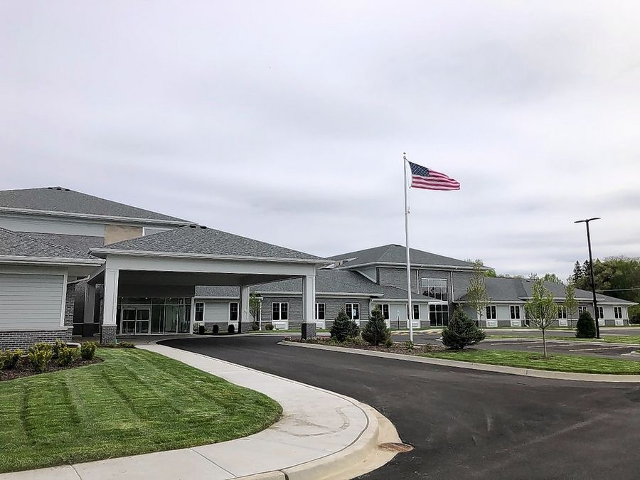 The entrance of Thrive of Lake County on Route 45 in Mundelein. The 185-bed facility is replacing Winchester House skilled nursing facility in Libertyville.
