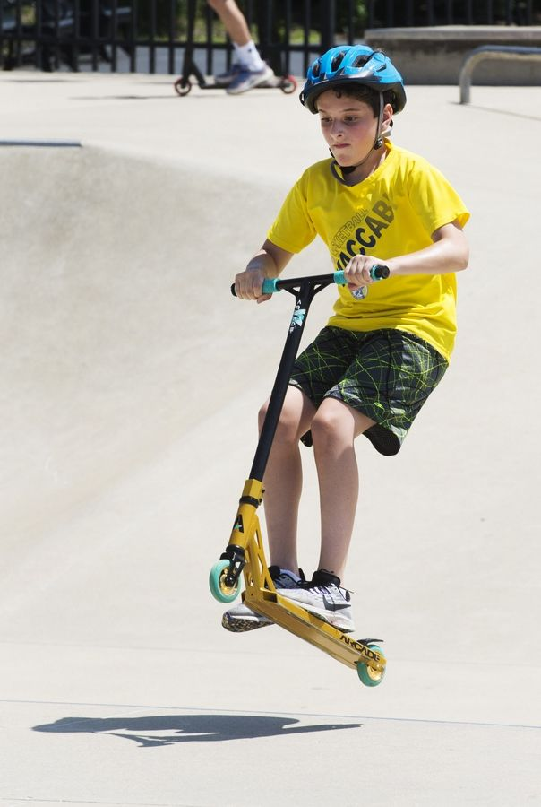 Daniel Mudrick, 12, of Northbrook catches some air at the Techny Prairie Park and Fields skate park in Northbrook.
