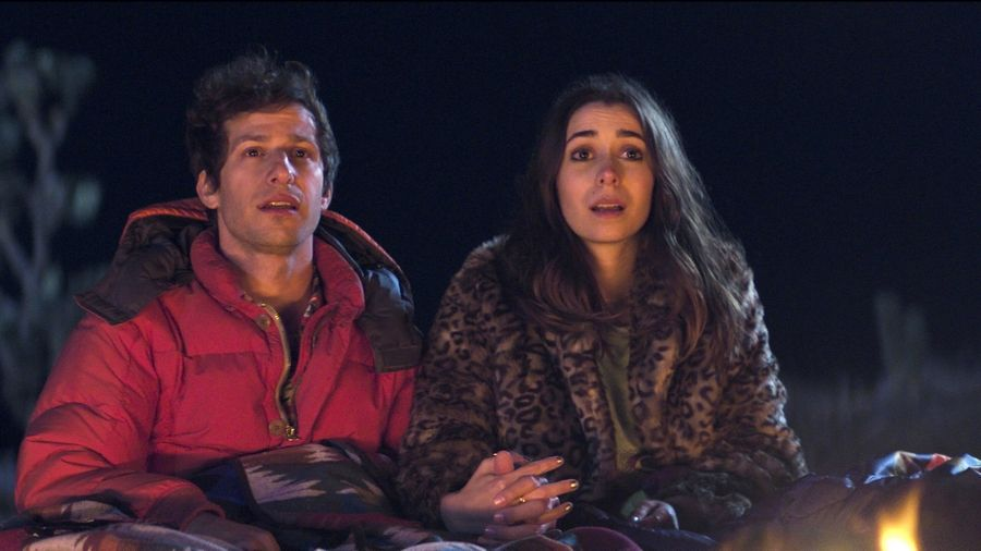 "Andy Samberg and Cristin Milioti star in ""Palm Springs."""