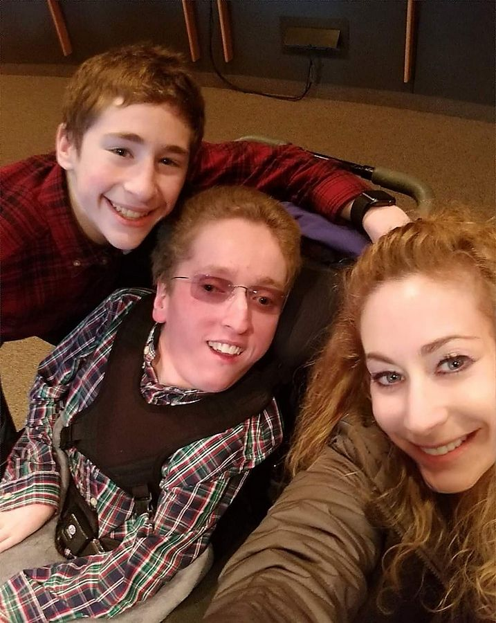 Alex, Maxie and Ilyce Randell. Maxie, of Buffalo Grove, died April 18 at age 22.