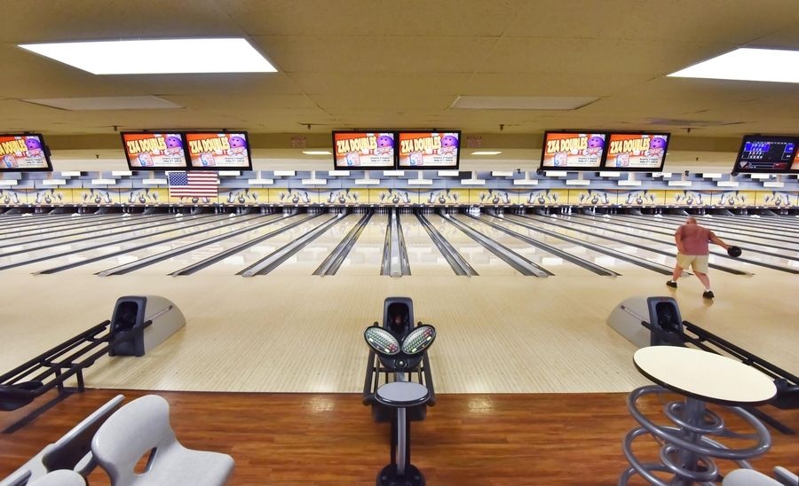 Stardust Bowl in Addison has 84 lanes but only 50 people are allowed inside at a time.