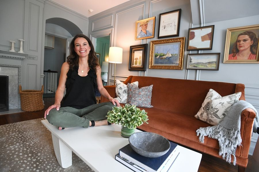 Designer Christina Samatas, 42, of Park & Oak in Glen Ellyn is one of the interior and landscape designers who worked on the Lake Forest Showhouse & Gardens. She and her colleague Renee DiSanto designed the master bedroom.