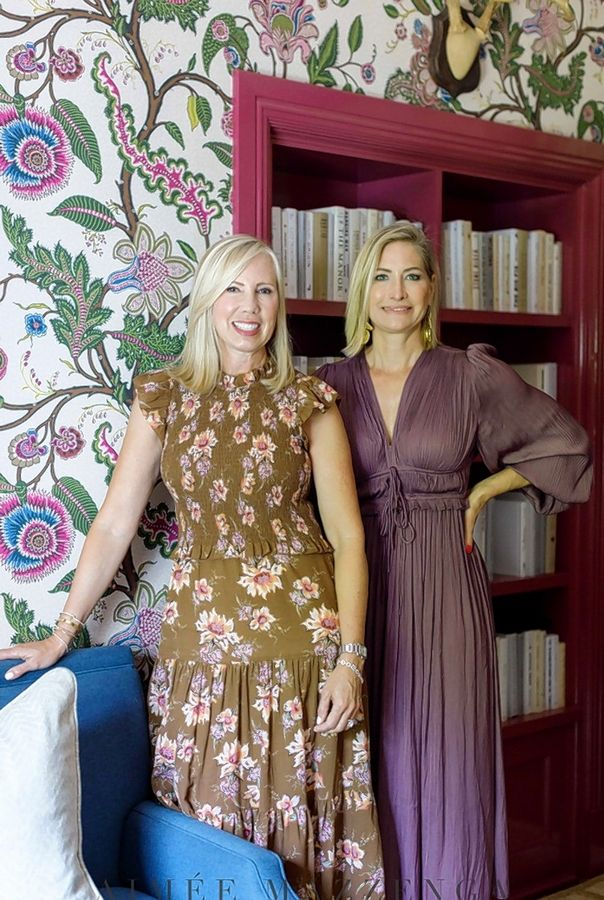 Melinda Cahill, left, and Suzanne Glavin, of North Shore Nest based in Glenview, designed the home office for a woman in the Lake Forest Showhouse.