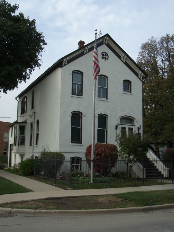 The F.W. Muller House is on the campus of the Arlington Heights Historical Society.
