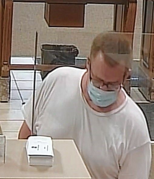 This man is the suspect in a robbery at the Fifth Third Bank at Downer and Broadway in Aurora on Wednesday.
