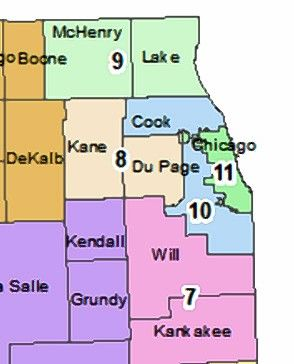 Illinois' new COVID-19 prevention strategy divides the state into 11 regions and for the first time separates different parts of the Chicago area.
