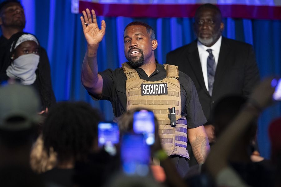 Rapper Kanye West makes his first presidential campaign appearance on Sunday in North Charleston, S.C.