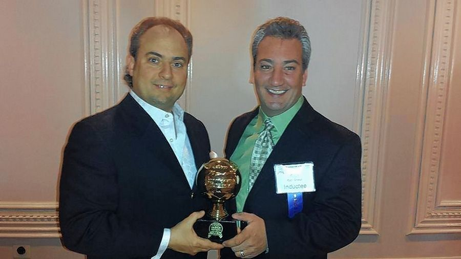 Ron Onesti, left, and his brother, Rich Onesti, were elected into Chicago's Sixteen Inch Softball Hall of Fame.