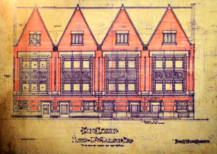 "Frank Lloyd Wright's 1894 drawing of the Robert W. Roloson House in Chicago will be featured in the ""Wright Before the 'Lloyd'"" exhibit opening Sept. 8. It offers a look at the architect's earlier work."