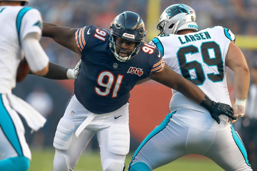 Chicago Bears nose tackle Eddie Goldman is one of the starters already ruled out for Sunday's finale against the Minnesota Vikings.