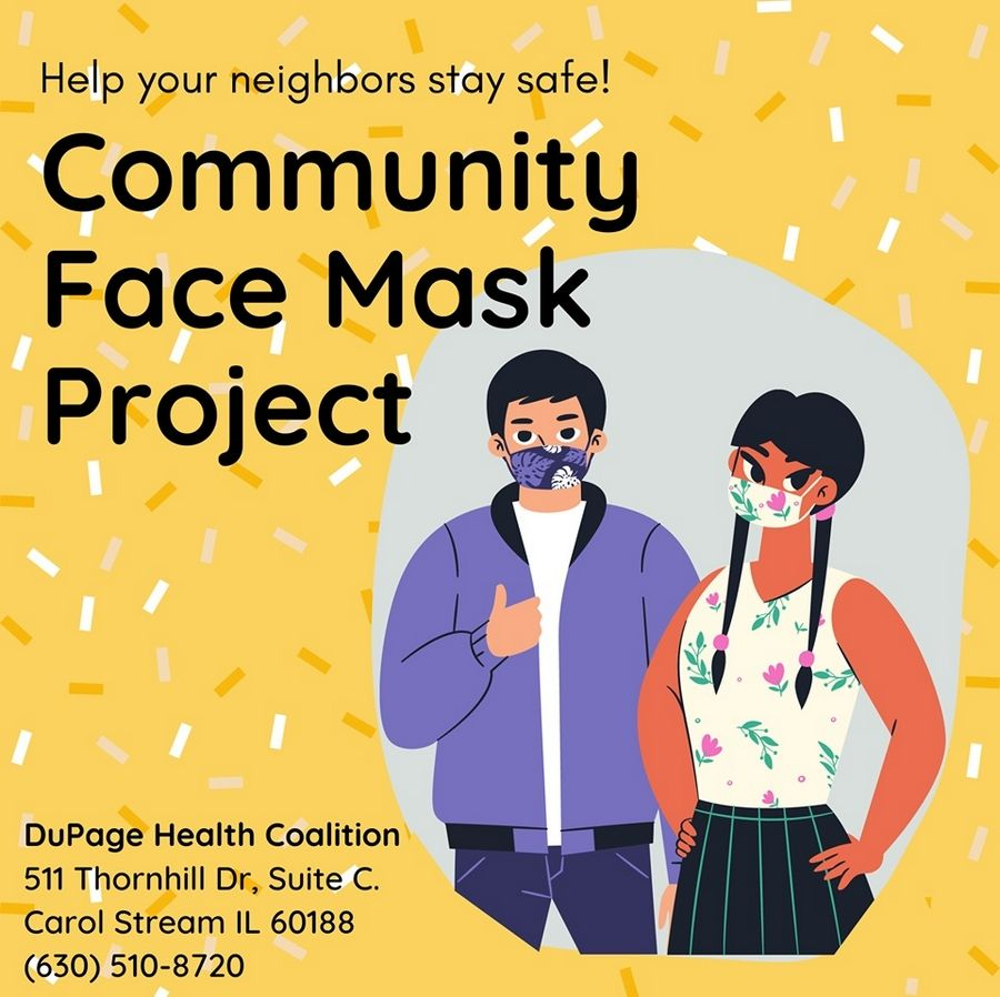 The DuPage Health Coalition has started the Community Face Mask Project