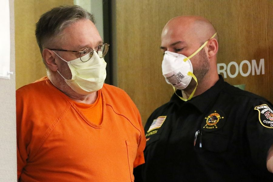 Andrew T. Freund Sr., accused of murdering his son AJ Freund, 5, in Crystal Lake, appears Thursday in McHenry County Circuit Court in Woodstock.
