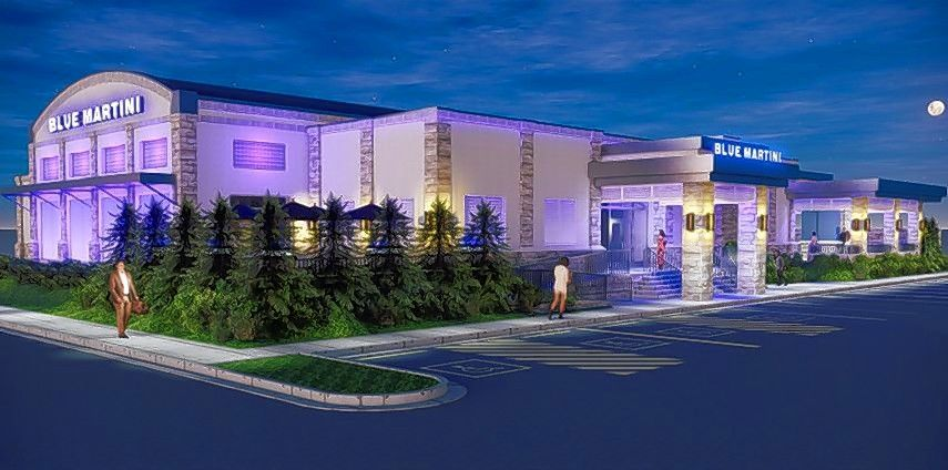 A rendering of the Blue Martini Lounge planned to replace the former Ram Restaurant & Brewery on Martingale Road in Schaumburg.