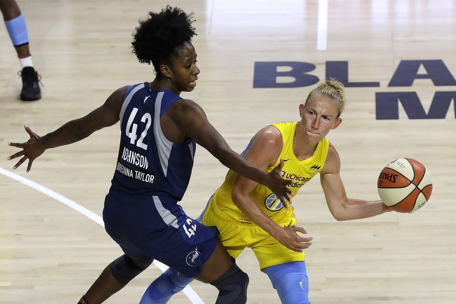 Courtney Vandersloot, now in her 10th season and all with the Sky, passed legendary point guard Becky Hammon and moved into the fifth spot on the WNBA's all-time assists list when she rolled up 4 assists against the Minnesota Lynx.