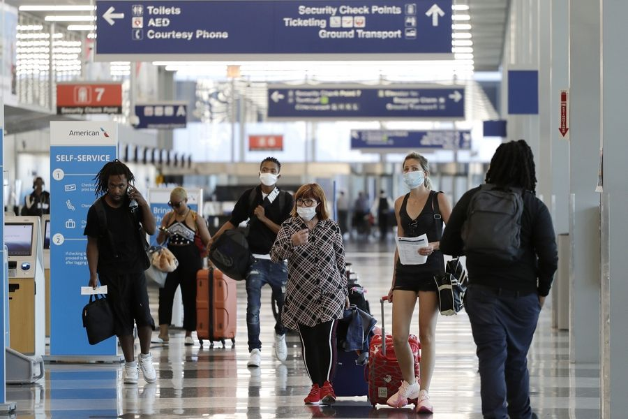 The Chicago Department of Aviation is restricting access to O'Hare and Midway airports to passengers with tickets and employees.