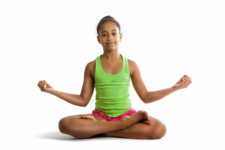 The key to yoga for kids is for it to be fun, a tiny bit challenging and stress-free.