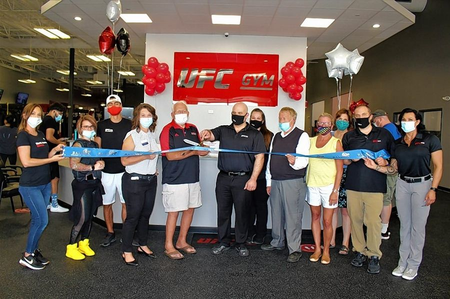 The Batavia Chamber of Commerce celebrated the soft opening of UFC Gym North Aurora, 1680 Orchard Gateway Blvd., North Aurora, with a ribbon-cutting ceremony. Having waited for months to be allowed to open because of the COVID-19 pandemic, it was a special celebration for UFC Gym. The owner, Scott Schroeder, dedicated it to his mother's memory, a fellow business owner who died from cancer last year. Thus, the company that manages the 40,000 square foot fitness center is known as Barbara Jean Fitness.