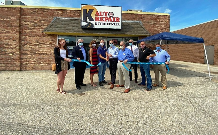 The Schaumburg Business Association joined Schaumburg village officials at the ribbon cutting of K Auto Repair.