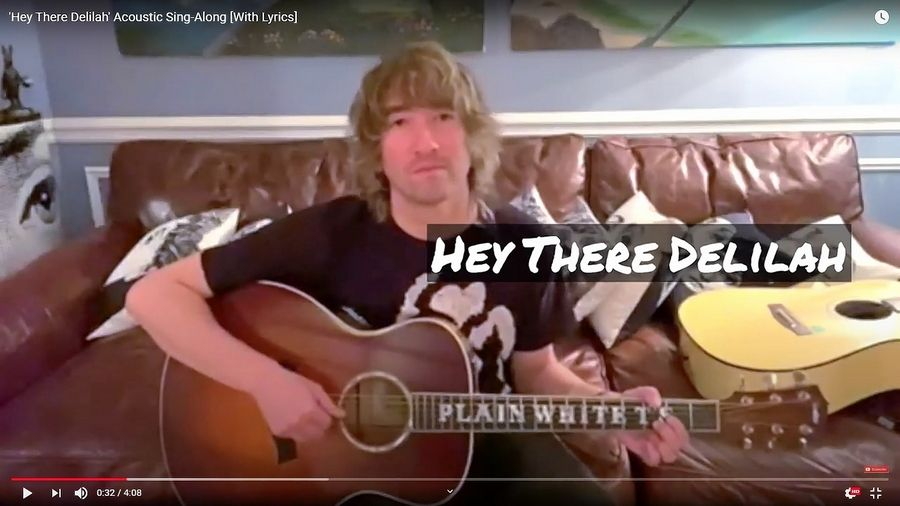 "Villa Park native Tom Higgenson released an acoustic guitar YouTube video with lyrics for the Plain White T's hit song ""Hey There Delilah."""