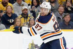 Edmonton Oilers center Connor McDavid is dangerous no matter where he's at on the ice, and the Blackhawks' Drake Caggiula — a former teammate of McDavid, said you have to play him physical to have any chance of slowing him down.