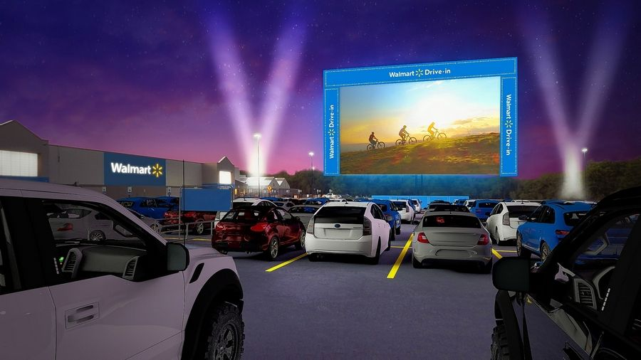 "Beginning Aug. 14, Walmart parking lots in Aurora, Batavia, DeKalb, Elgin, Huntley, St. Charles and Streamwood will transform into drive-in theaters showing such family favorites like ""Wonder Woman""; ""The Goonies""; ""Space Jam"" and ""The Wizard of Oz"" among others."