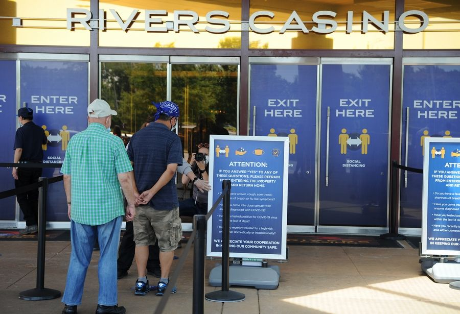 Rivers Casino in Des Plaines reopened at the beginning of July, along with the state's other gambling sites, after being closed for months and eliminating a significant revenue source for the state during that time.