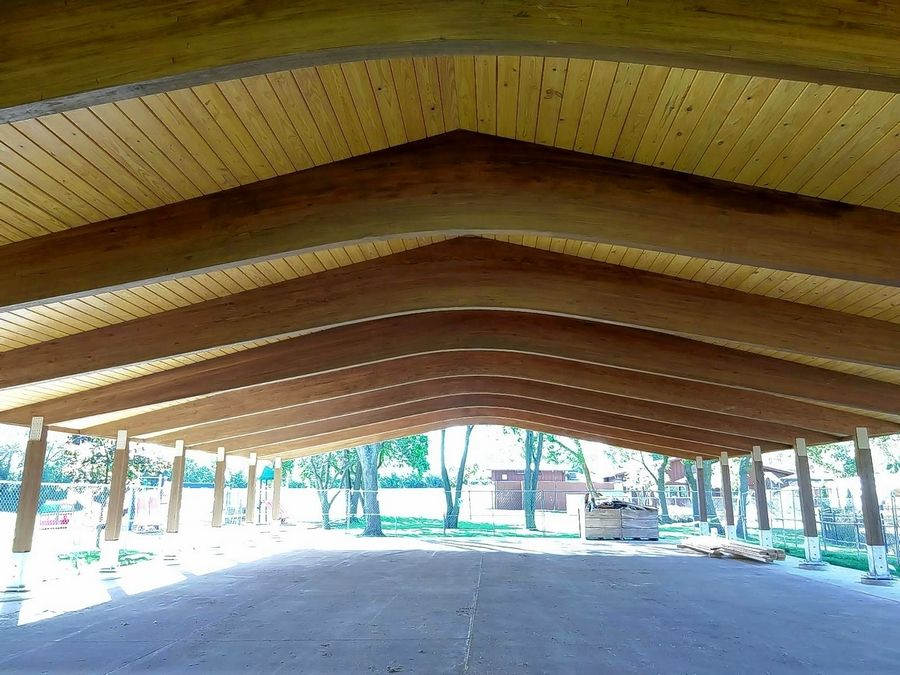 "A new all-season outdoor pavilion was designed for all events, including Shabbat celebrations, at ""Z"" Frank Apachi Day Camp in Northbrook."