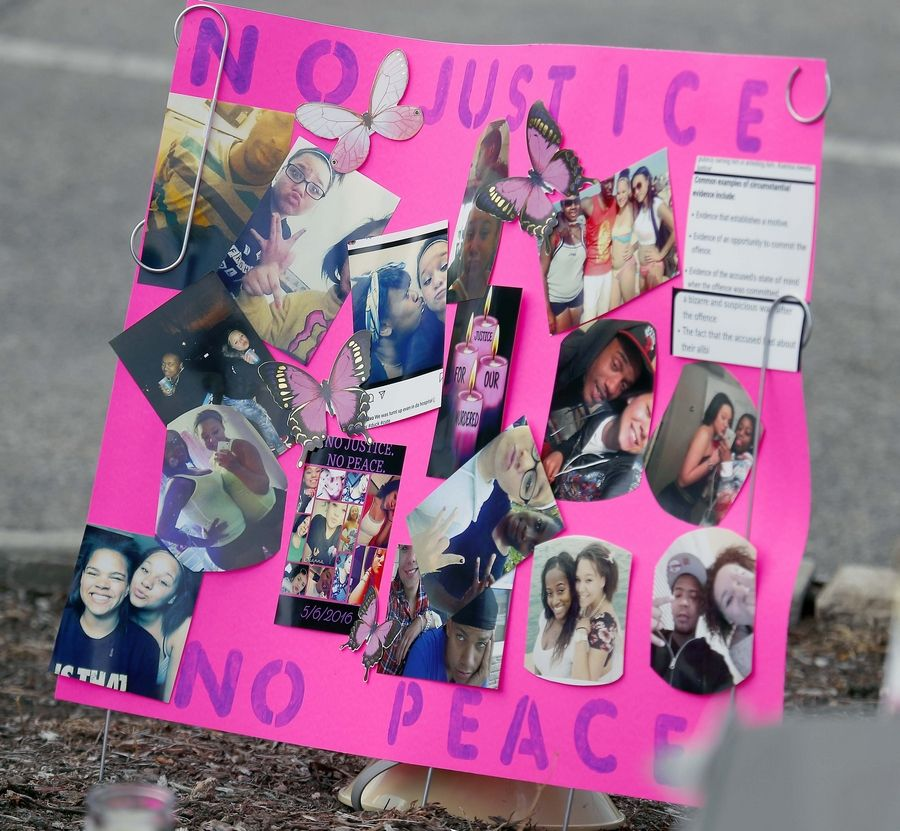 This is one of the signs a the rally Saturday for Kianna Galvin, the South Elgin teen who disappeared four years ago.