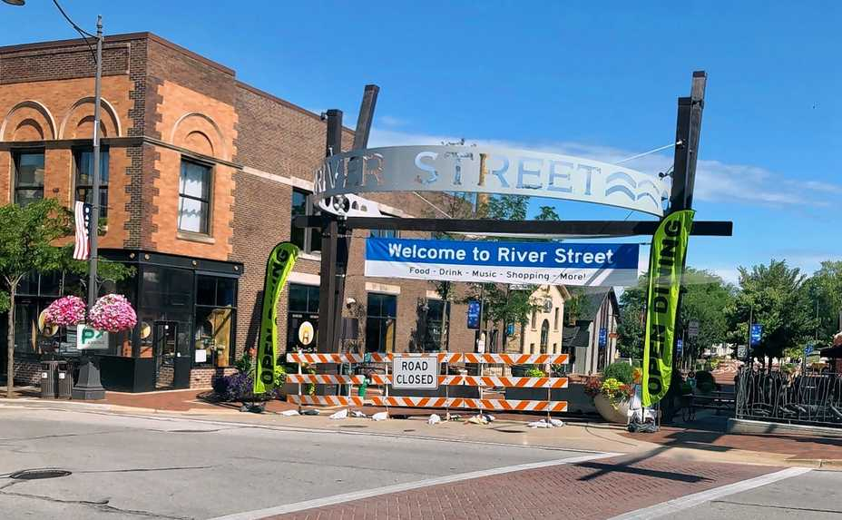 Batavia has put up barricades blocking North River Street to vehicular traffic, offering space for additional outdoor seating for restaurants and shops along the downtown corridor. But aldermen and business owners say the blockades are confusing for passersby. City officials now hope to make some fast and flexible improvements to help attract patrons to businesses.