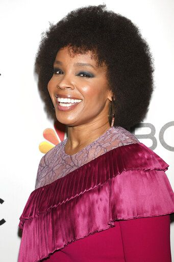 FILE - In this Jan. 23, 2020 file photo, Amber Ruffin attends the NBC midseason 2020 press day party in New York on  Jan. 23, 2020. Peacock is launching a pair of weekly late-night comedy series with Larry Wilmore and Ruffin. (Photo by Greg Allen/Invision/AP, File)
