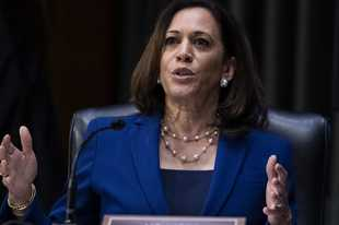 In this June 16, 2020, photo, Sen. Kamala Harris, D-Calif., asks a question during a Senate Judiciary Committee hearing on police use of force and community relations on on Capitol Hill in Washington. Democratic presidential candidate former Vice President Joe Biden has chosen Harris as his running mate.