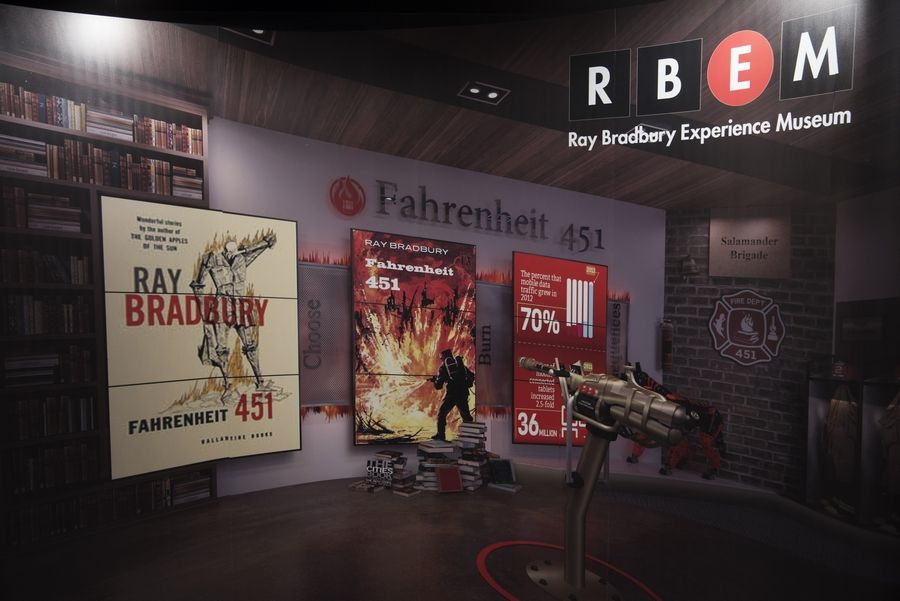 This is one of the displays at the Ray Bradbury Experience Museum, shown during Ray Bradbury's Centennial Celebration in Waukegan Saturday.