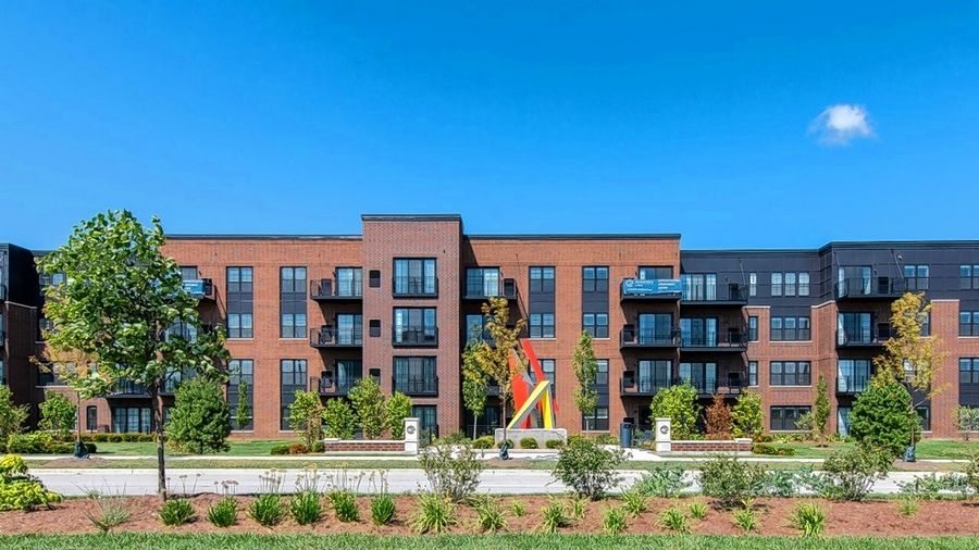 The 260-unit Element at Veridian apartment building on the former Motorola Solutions campus in Schaumburg was completed this summer and some residents already have moved in.