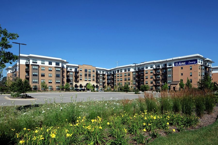 The Elaine is a new five-story, 304-unit apartment complex in Northbrook.