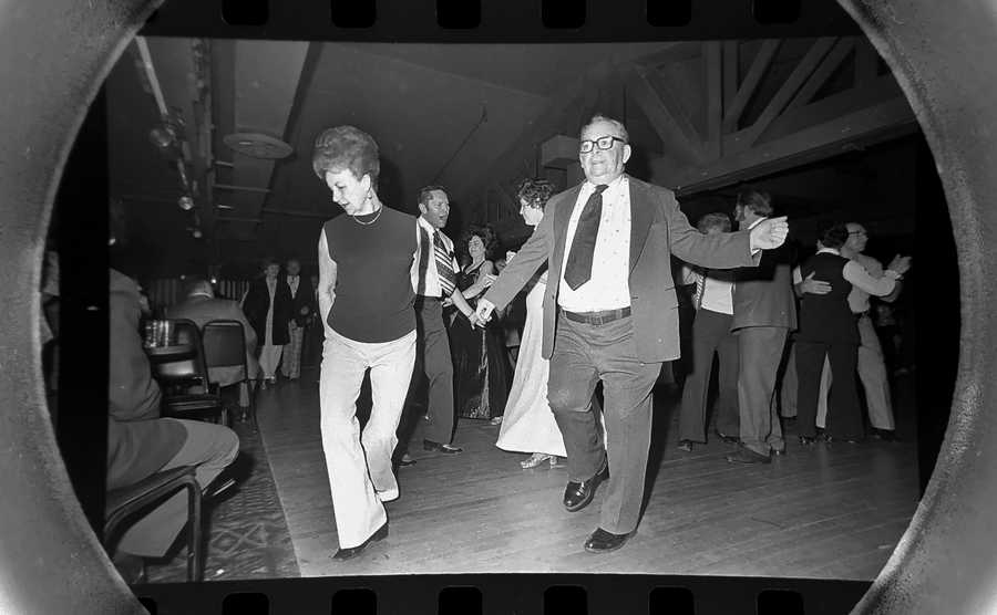 The Daily Herald Archives, Assignment # 38,880, Dave Tonge photo: Couples dancing the night away at the Blue Room ballroom in Elgin in January of 1976.