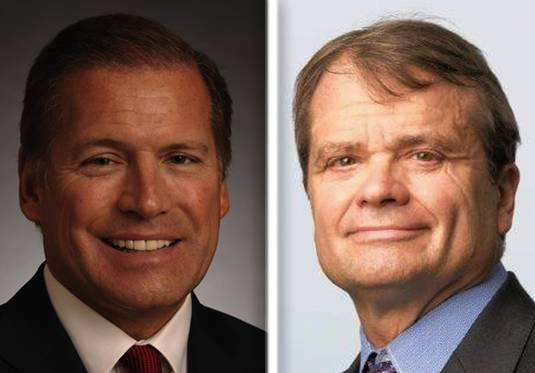 Tommy Hanson, left, and Mike Quigley are candidates for the 5th Congressional District seat.