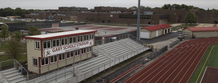 Gary Scholz Stadium at Schaumburg High School. Scholz, who was Schaumburg's Athletic Director from 1980-89, passed away Monday, Sept. 7 at the age of 90.