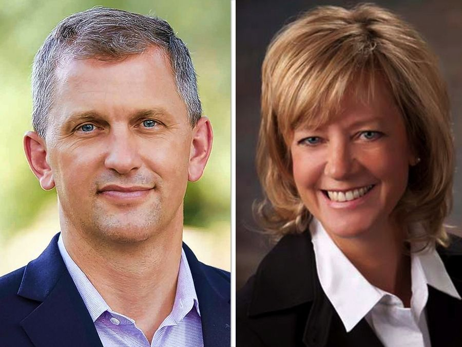 Sean Casten, left, and Jeanne Ives, right, are candidates for the 6th Congressional District in the Nov. 3 general election.