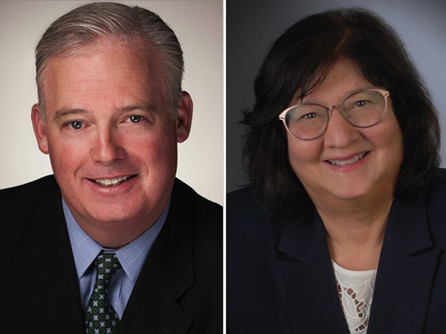 Martin McLaughlin, left, and Marci Suelzer are candidates for the 52nd state House District seat.