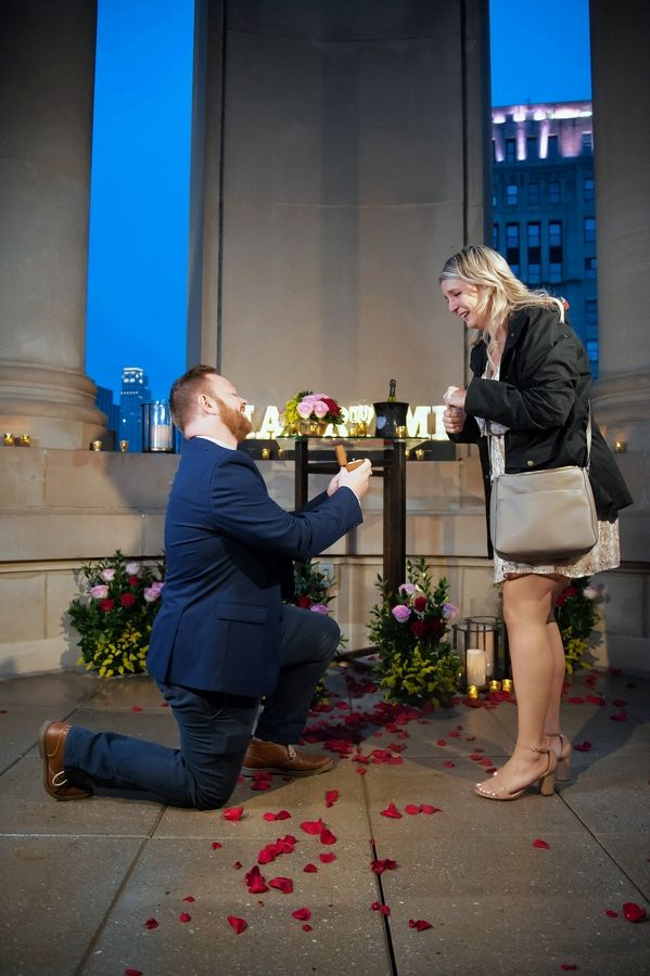 Zach Lefevre proposed to his girlfriend, Kayla Kennelly, on Thursday night in the 23rd-floor cupola of the LondonHouse Chicago hotel on Wacker Drive. The couple live in Elk Grove Village.
