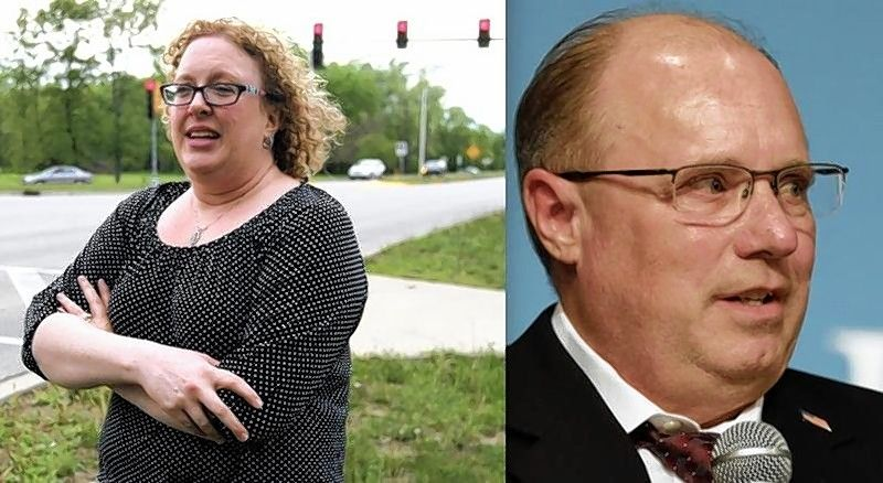 Left, Kelly Liebmann, a Libertarian from Harvard, and Michael Rein, a Republican from Woodstock, are running for McHenry County coroner.