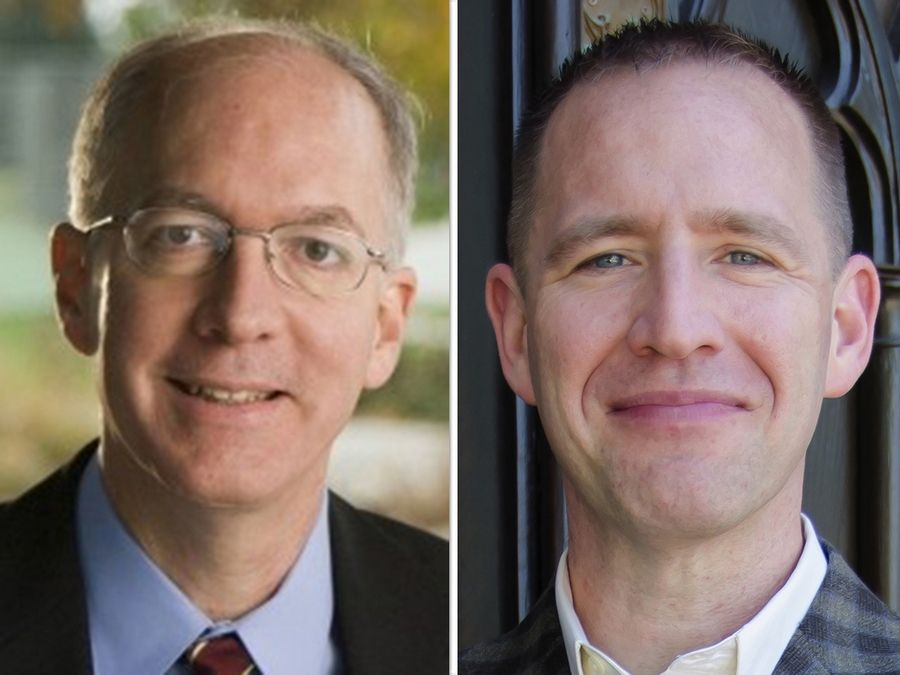 Bill Foster, left, and Rick Laib are candidates for the 11th Congressional District seat.