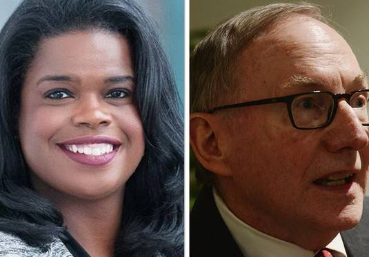 Kim Foxx, left, and Patrick O'Brien are candidates for Cook County State's Attorney.