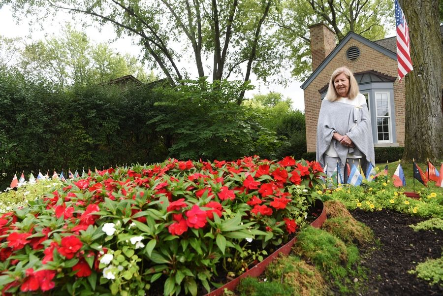 Tracey Duda of Glenview created a Victory Garden to provide hope during the COVID-19 pandemic.